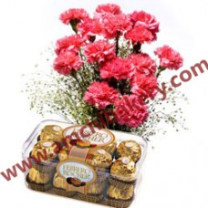 Beautiful Roses + Fancy chocolates gift pack