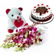 Flower + Cake + Tedibear