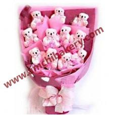 Tedi bear love  bouquet