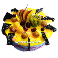 fresh fruit and nut cake