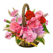 Flower basket (pink and red)