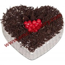 Chocolate heart flaky cake