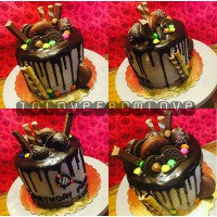 choco cream bash cake