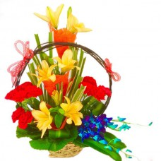 ASORTED FLOWERS BASKET