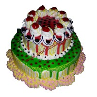 Kiwi Strawberry Cake (2 kg)