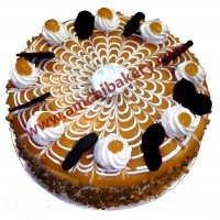 butterscoth cake with caramel coating