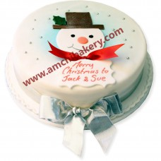 snowman on cake